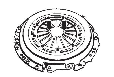 Положение лепестков тарельчатой пружины