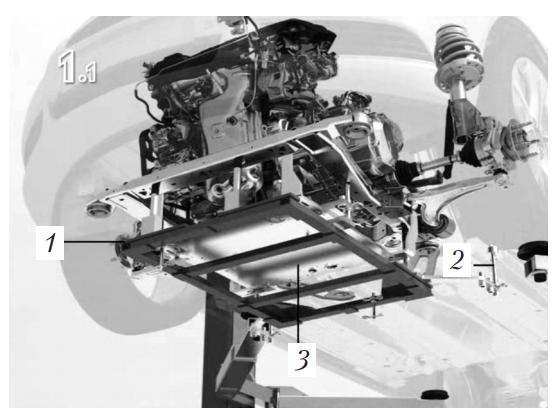 Положение рам при установке двигателя и коробки передач