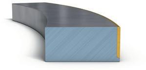поршневое кольцо с частичным покрытием рабочей кромки