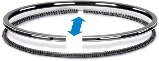 правильное положение пружинных расширителей кольца