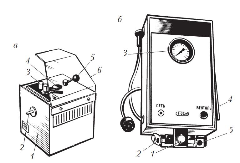 Приборы для очистки свечей зажигания и их проверки