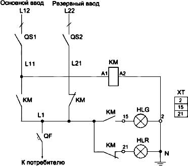 Пример схемы АВР