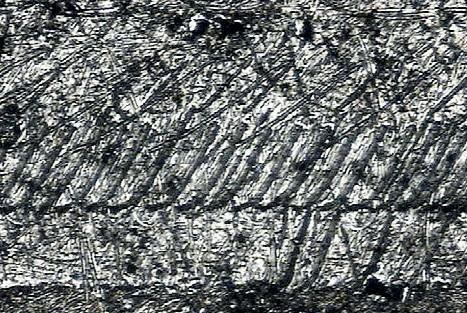 Примеры накатанных следов на верхней боковой поверхности кольца