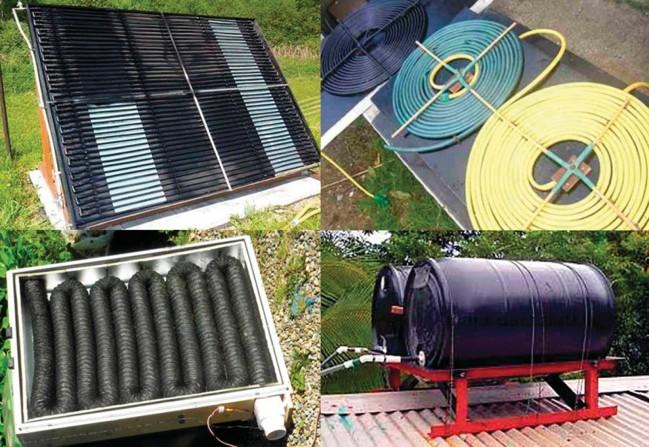 простейшие водяные и воздушные тепловые солнечные коллекторы