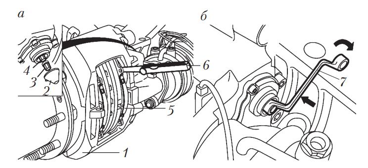 Проверка и регулировка механизма автоматической регулировки дисковых тормозных механизмов автомобилей с пневматическим приводом тормозной системы