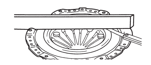 Проверка нажимного диска на неплоскостность