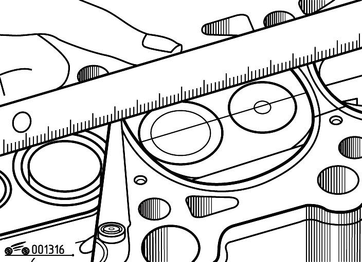 Проверка плоскостности привалочной поверхности головки блока цилиндров