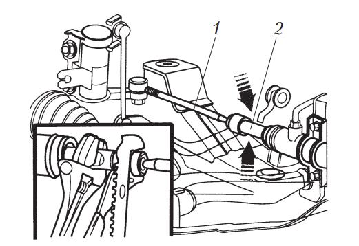 Регулировка схождения передних колес легкового автомобиля