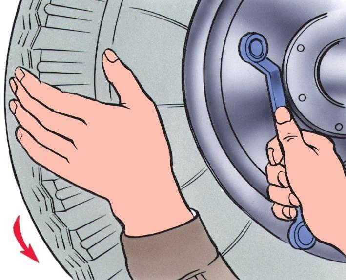 Регулировка зазоров между колодками и тормозным барабаном заднего колеса