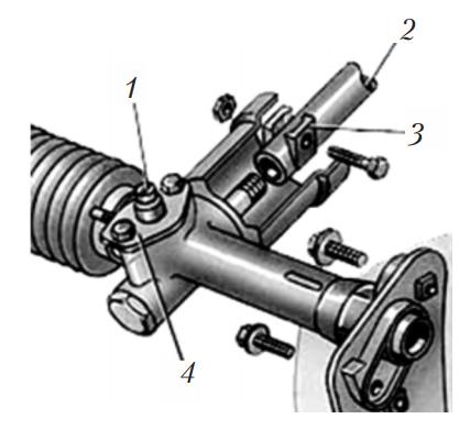 Рулевое управление реечного типа автомобиля Audi