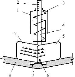 Схема динамометрического устройства для измерения натяжения ремня
