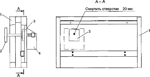 Схема крепления гнездообразователя к щиту опалубки лифтовой шахты