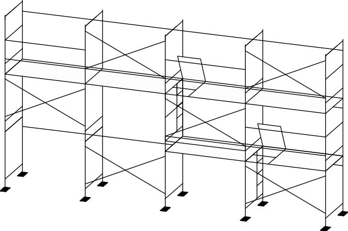 схема лесов ЛСПР-200