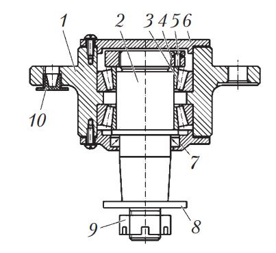 Схема маятникого рычага рулевого управления автобуса МАЗ