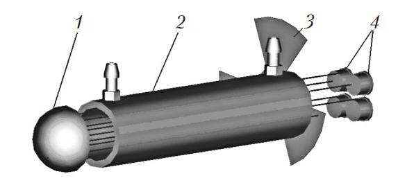Схема оптического газоанализатора АВГ-4