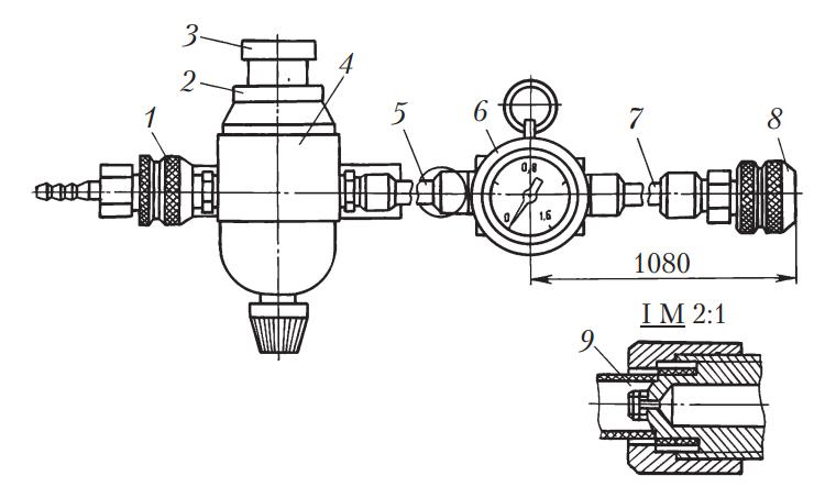 Схема пневмотестера К-272