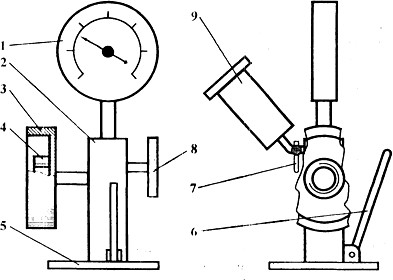 Схема прибора для проверки форсунок