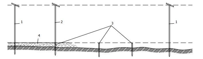 Схема проверки горизонтальности основания под фундаменты