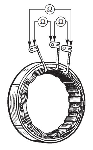 Схема проверки статора генератора на обрыв