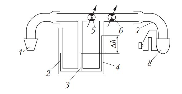 Схема расходомера КИ-4887-1 для измерения расхода картерных газов