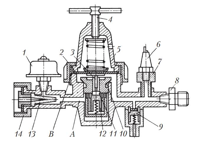 Схема редуктора высокого давления