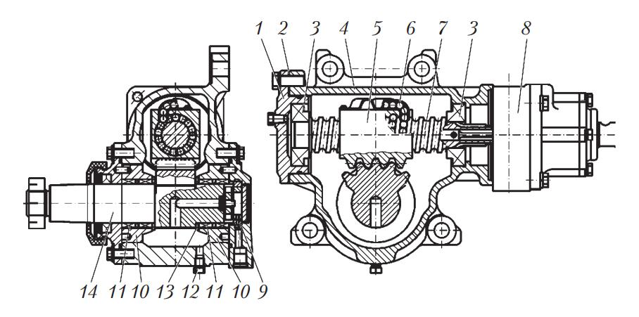 Схема рулевого механизма автобуса МАЗ