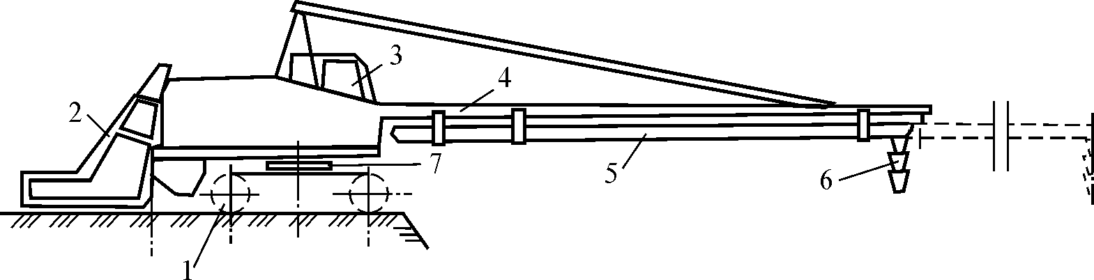 Схема самоходного бетоноукладчика
