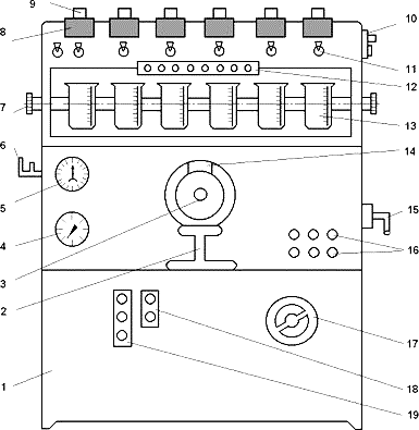 Схема стенда для диагностирования топливной аппаратуры дизельного двигателя