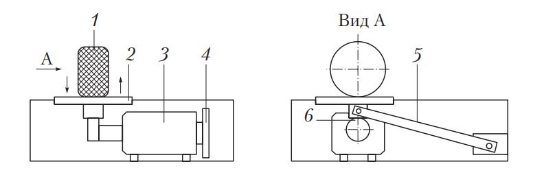 Схема стенда для проверки амортизаторов