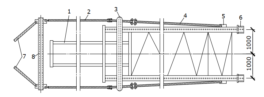 Схема строповки стальной колонны