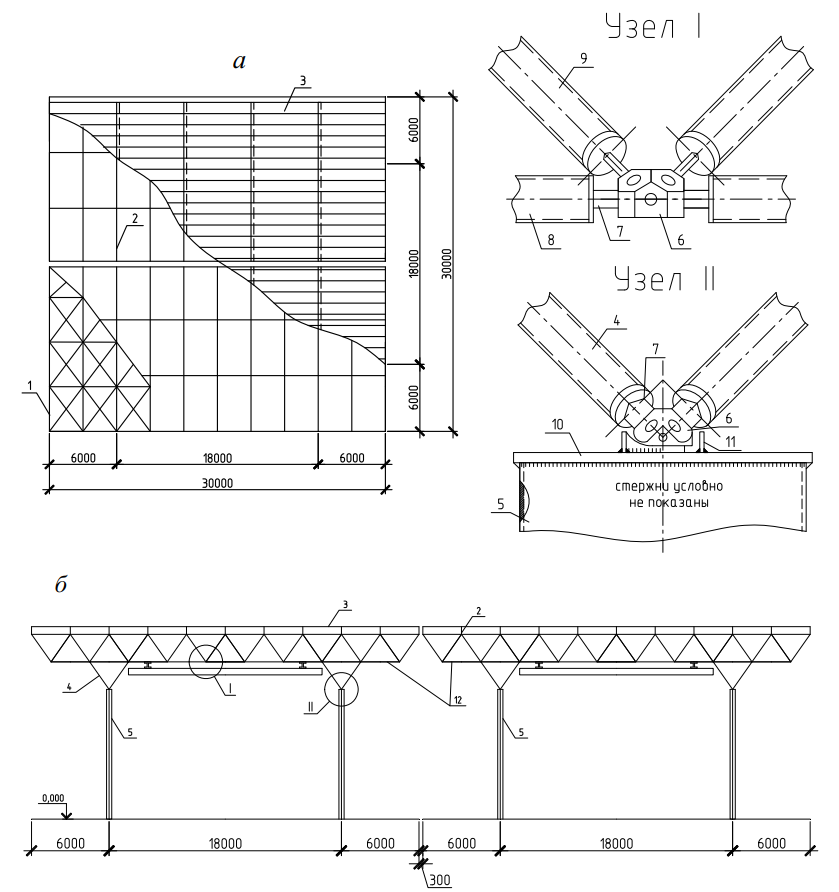 схема структурного покрытия типа «Кисловодск»