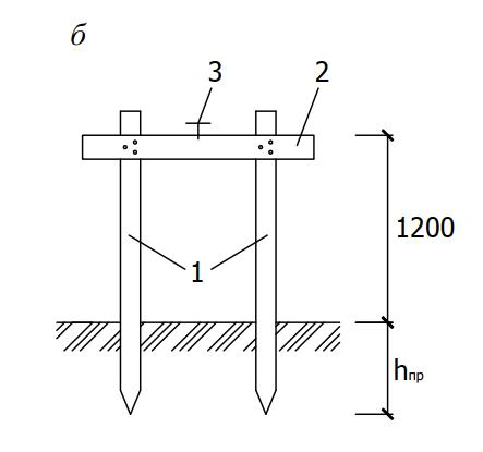 схема установки деревянной обноски