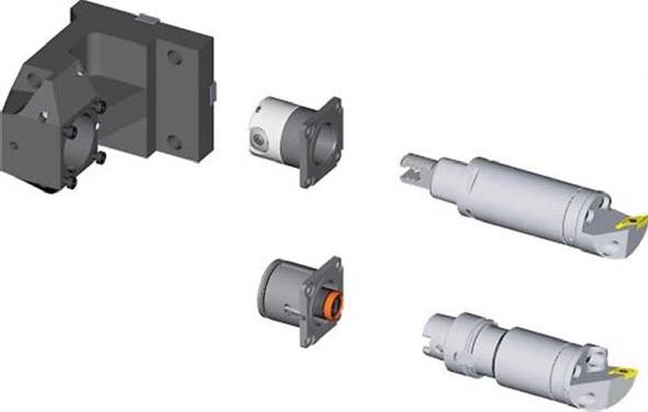 Схема установки инструмента в блок