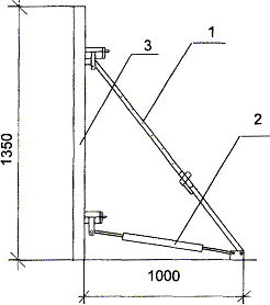 Схема установки подкосов опалубки