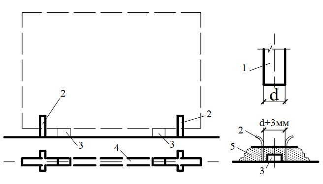 Схема установки внутренних стеновых панелей с применением фиксатора-ловителя
