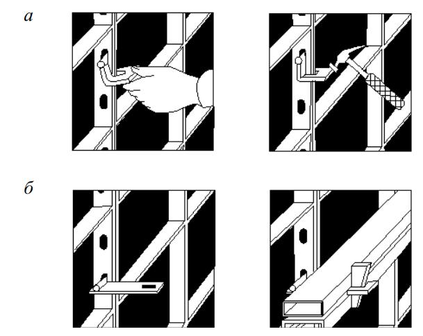 схема установки замка и схема установки выравнивающей балки