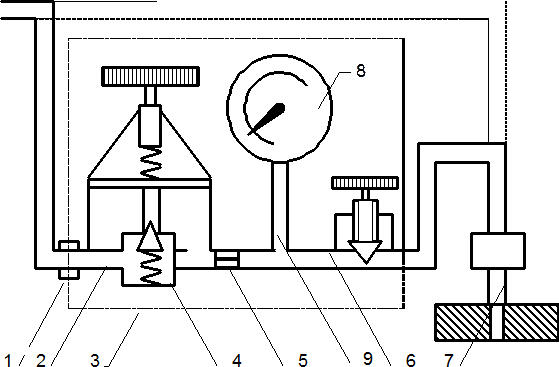 Схема устройства прибора К-69М