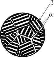 Схема видманштеттовой структуры титановых сплавов