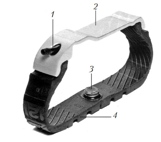 Шина с установленным чипом