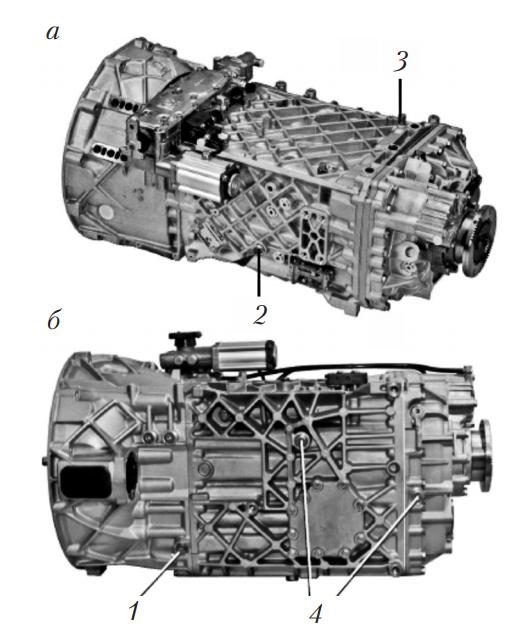 синхронизированная механическая коробка передач типа ZF с пневматическим приводом переключения отдельных передач