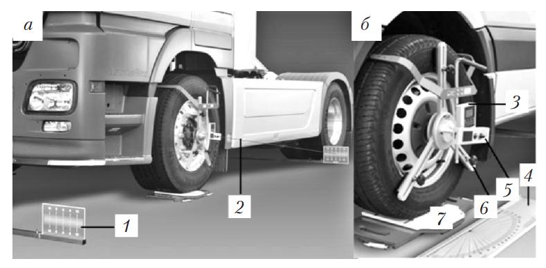 Стенд для измерения геометрии рамы и углов установки колес