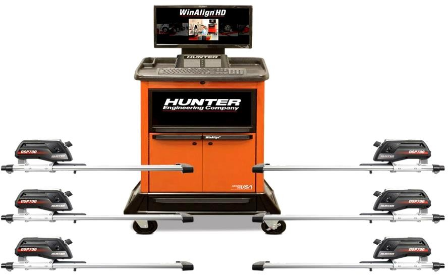 Стенд для измерения и регулировки углов схождения-развала грузовых автомобилей модели Hunter