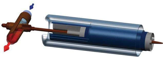 Тепловая трубка «Heat pipe» с цилиндрическим абсорбером