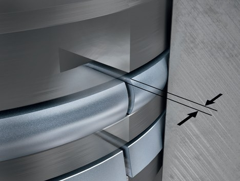 Тепловой зазор кольца в смонтированном состоянии