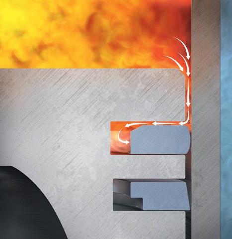 Уплотнение от прорыва отработанных газов в поршневых кольцах