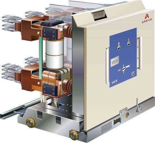 Вакуумный выключатель внутренней установки HVX на напряжения 10 кВ