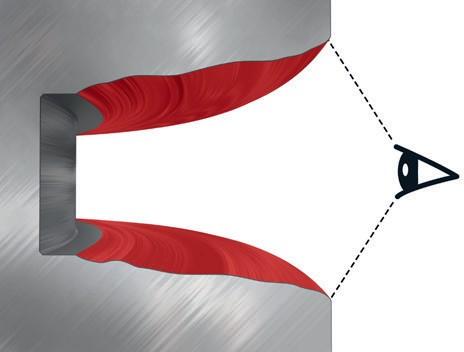 Визуальная проверка канавки кольца