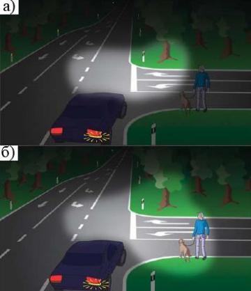 Освещение дороги адаптивной системой