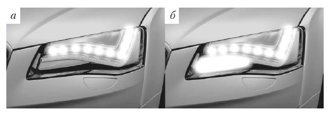 Адаптивное статическое боковое освещение