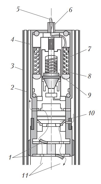 Амортизатор с регулируемым сопротивлением перетекания жидкости